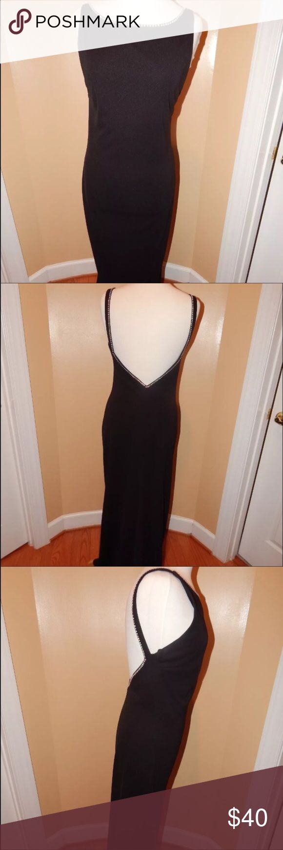 Final Sale!!! Gorgeous Black Gown❣️ Re-Poshing 😔. This dress was exactly what I was looking for, for a company party.  Unfortunately it's a little to snug in the bust area.  I hope its able to find a new home where it can be shown off and make you the star✨of the night! Ariana Grande Dresses Backless