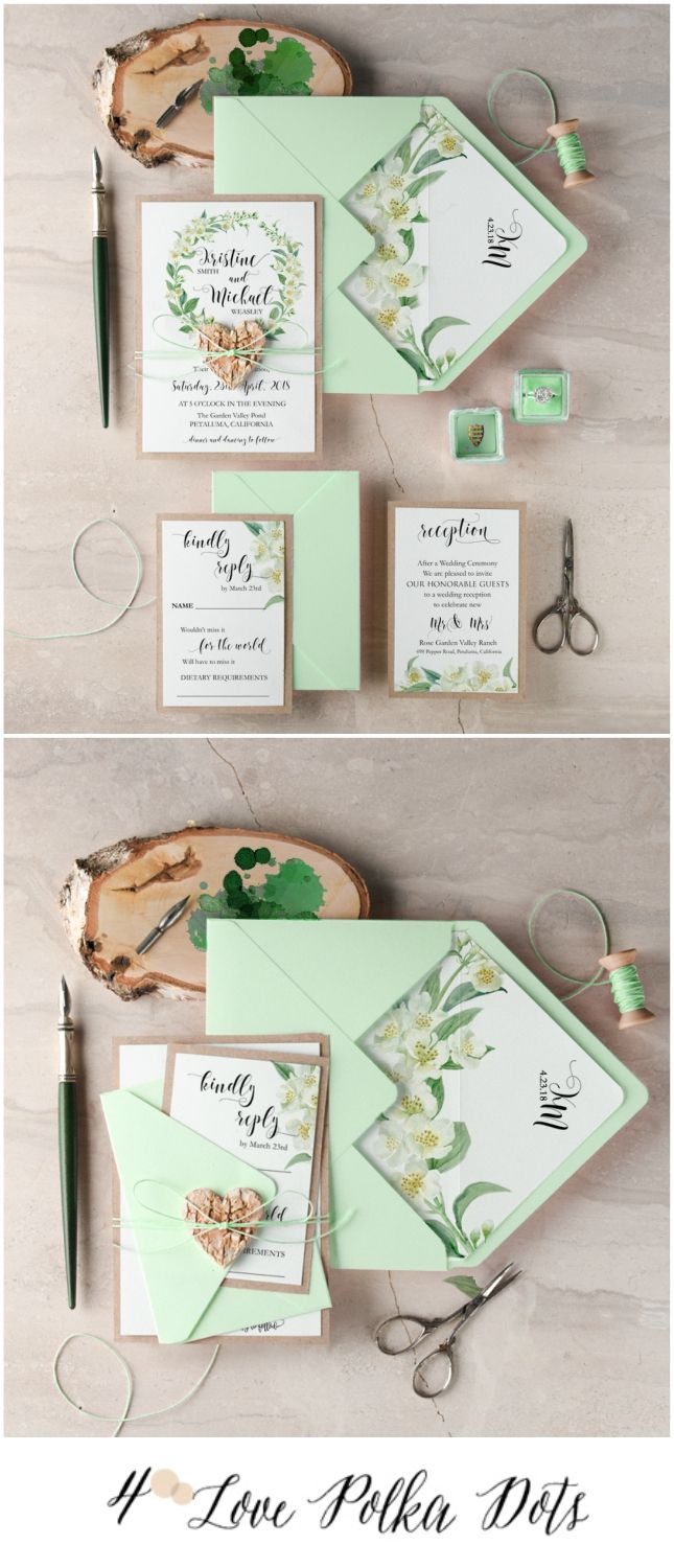 Complete your mint wedding decor with matching