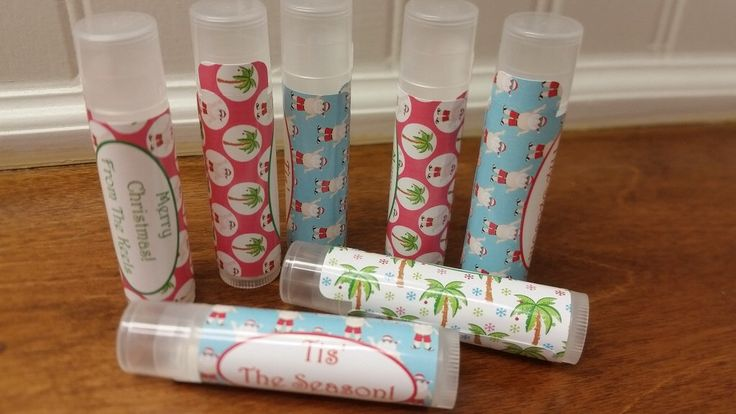 Beach Tropical Christmas Classroom Treats! Personalized Lip Balms All Natural 5 Flavors by MoodyBleu on Etsy https://www.etsy.com/listing/249637465/beach-tropical-christmas-classroom