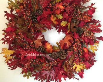 fall wreath fall wreaths autumn wreaths front door by aniamelisa