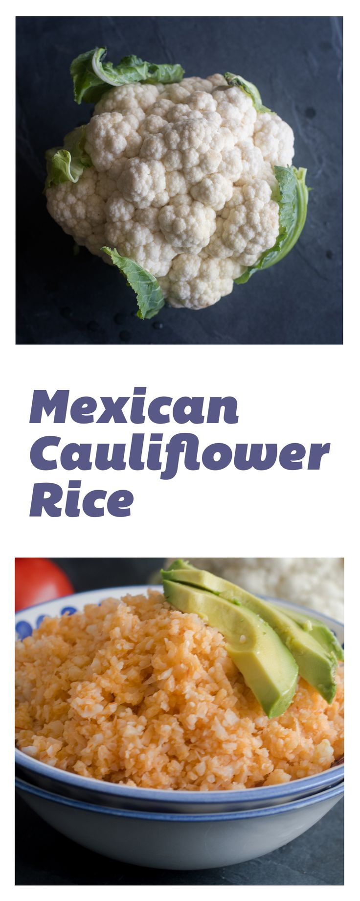 Mexican Cauliflower Rice is healthy low-carb version of the classic Mexican Red Rice recipe. It's a healthy, nutritious Mexican side dish.