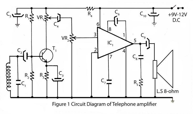 telephone amplifier circuit diagram