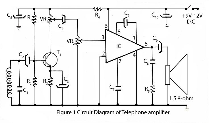 telephone amplifier circuit diagram