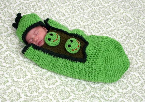 pea in a pod by gammysangelwear on Etsy, $45.00