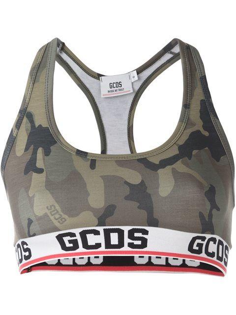 Gcds камуфляжный спортивный топ с логотипом