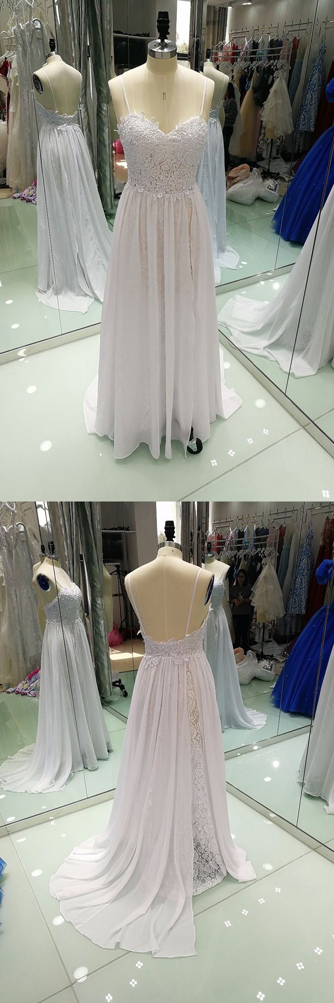 Only $168.99, Beach Wedding Dresses Backless Lace Beach Wedding Dress Boho With Slit Destination Weddings #E7942 at #GemGrace. View more special Beach Wedding Dresses,Sexy Wedding Dresses,Boho Wedding Dresses now? GemGrace is a solution for those who want to buy delicate gowns with affordable prices, a solution for those who have unique ideas about their gowns. 2018 new arrivals, shop now to get $10 off!