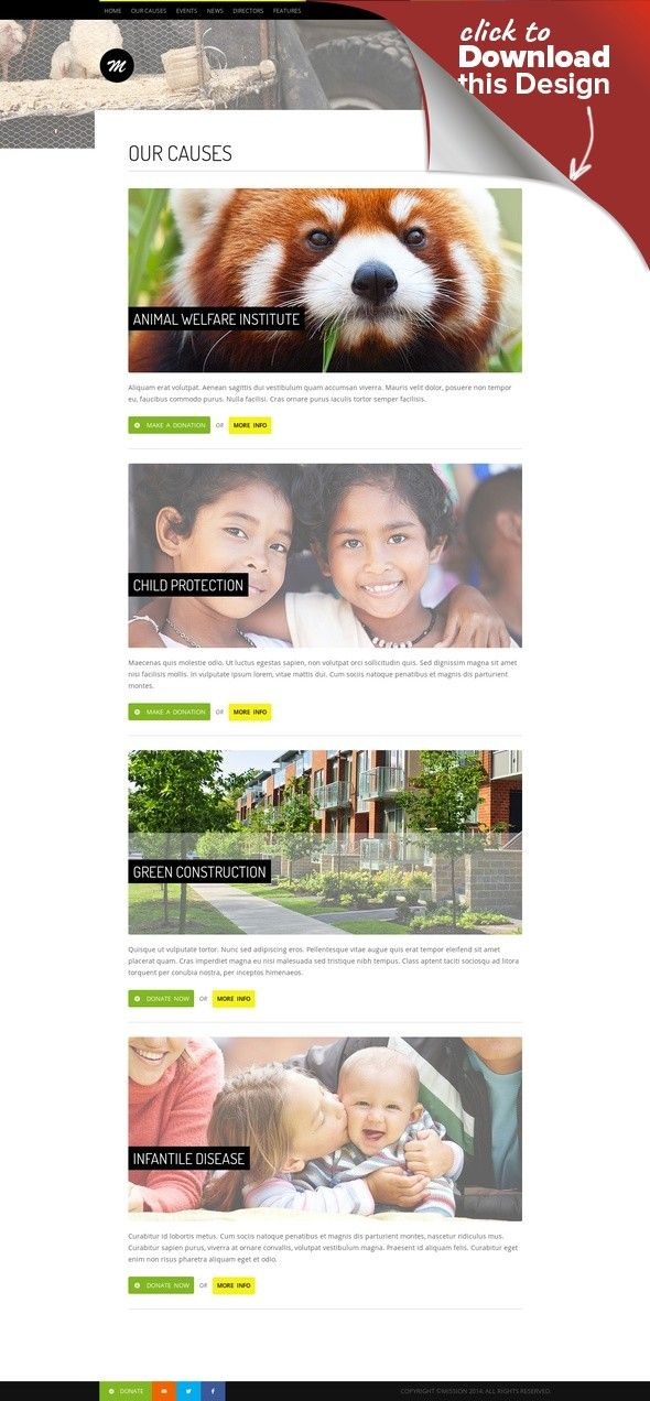 Mission - Responsive WP Theme For Charity Causes, charity, colorful, donation, events, foundation, ngo, non profit, non-profit, nonprofit, paypal, responsive Updates Version 2.2 (March 18th 2013) Fixed Slider Title not collapsing anymore when title isn't long enough. Added Youtube Social Icon. About Mission Mission is a premium responsive WP template for charity and foundation website. After purchasing this theme, you will receive the Wor...