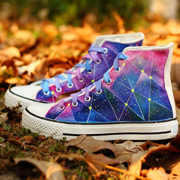 Harajuku galaxy Pattern Canvas Shoes