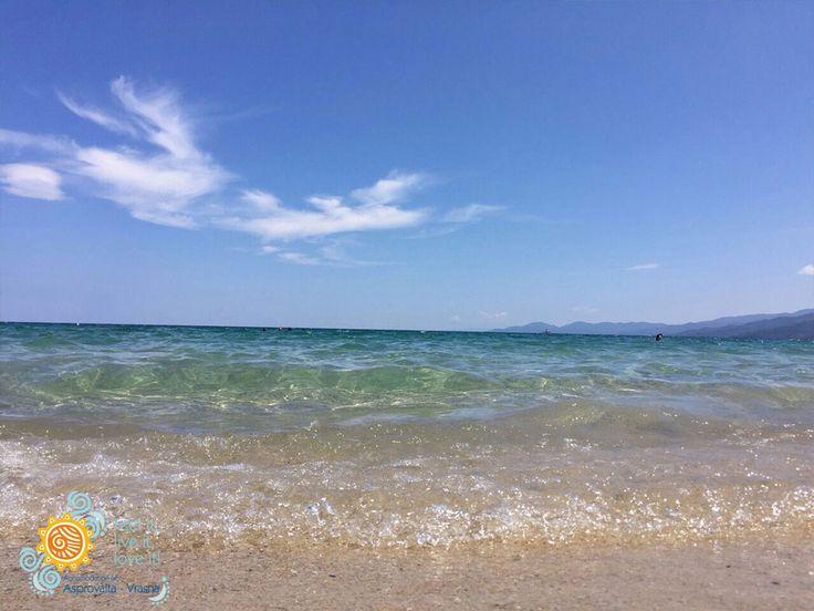 Blue sky !!! Blue Beach !!!   #Asprovalta #Vrasna #Greece #Holidays #Beach #Thessaloniki #Vacation  http://asprovalta-vrasna.gr/