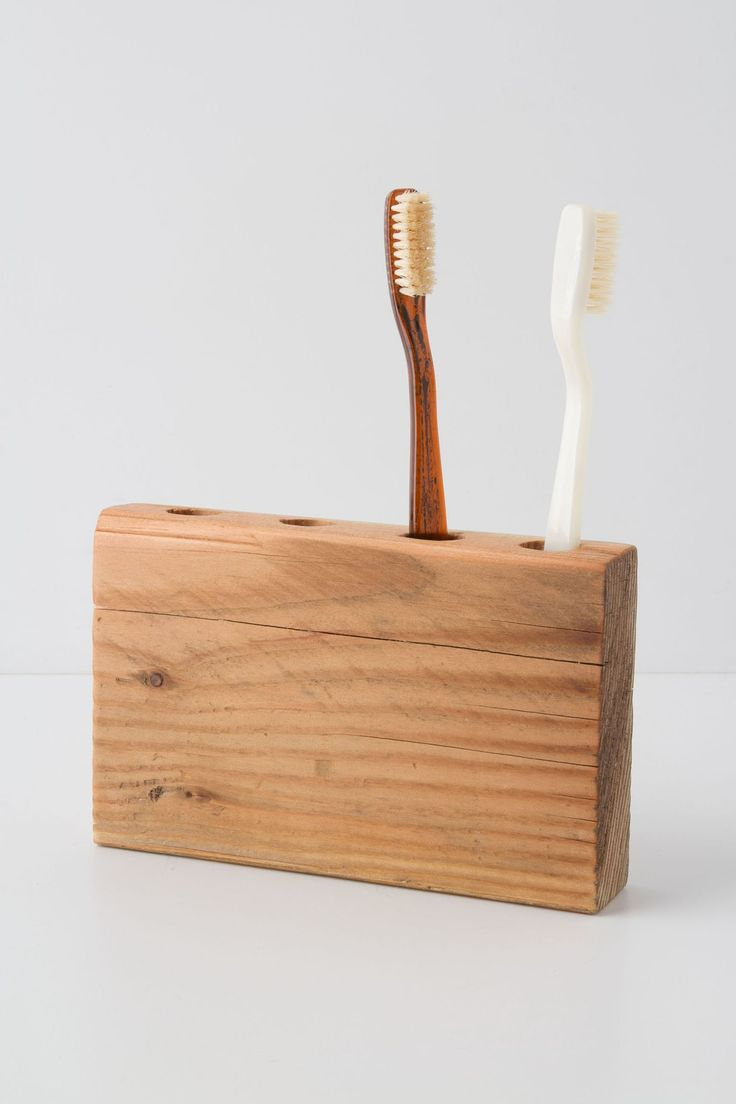 Timber Trail Toothbrush Holder Bath Accessories Wood