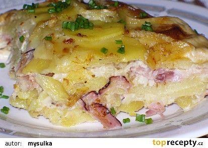 Zapečené brambory s Hermelínem recept - TopRecepty.cz