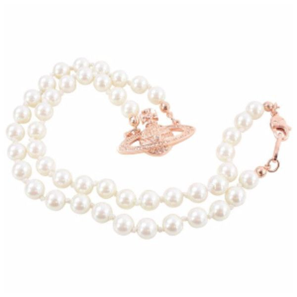 Mini Bas Relief Pearl Choker Pearl Pink Gold ($145) ❤ liked on Polyvore featuring jewelry, necklaces, rose gold chain necklace, chain choker, studded choker necklace, swarovski crystal choker necklace and pearl choker