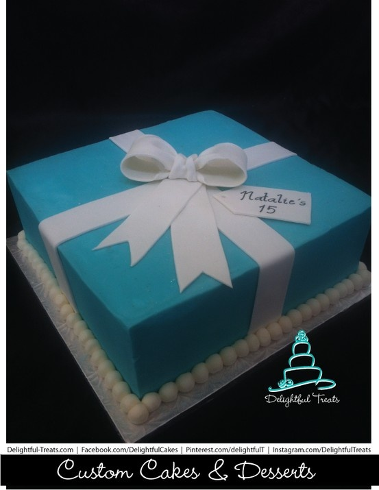 Tiffany and co Blue Gift Box ButterCream Birthday Cake, Tiffany And Co present Box Cake, Blue Gift Box Cake, Tiffany Cake, Butter Cream Gift Box Cake, Custom Birthday Cakes Orlando, Delightful Treats  #TiffanyBoxCake #TiffanyandcoBirthdayCake #TiffanyCake #TiffanyBoxBirthdayCake #BlueGiftBoxCake #ButterCreamCake #ButterCreamFrostingLikeFondant #OrlandoCustomBirthdayCakes #TiffanyPresentBoxCake Gallery