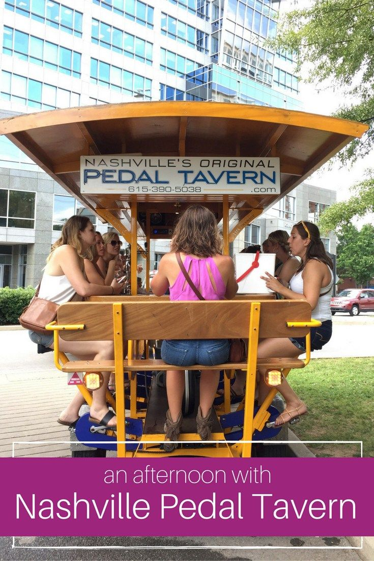 An afternoon with Nashville Pedal Tavern is a great group activity!