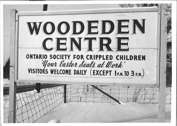 Entrance sign - Easter Seals Camp Woodeden