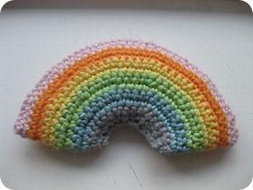 hæklet regnbue