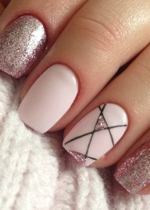 50+ Simple and Amazing Gel Nail Designs For Summer #summernails #gelnails #nails #nailart #nailideas #beauty #acrylicnails #glitternails #winternails