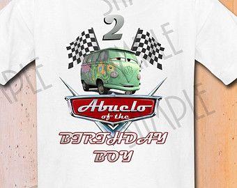 Camisa de fiesta de cumpleaños de Cars personalizada de