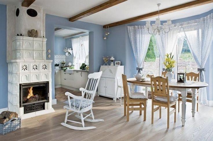 adelaparvu.com despre casa rustica cu interior alb si albastru, Casa Polonia, Foto Rafal Lipski (1)