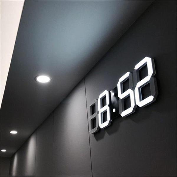 Led Wall Clock 3d Led Wall Clock Wall Clock Modern Wall Clock Light