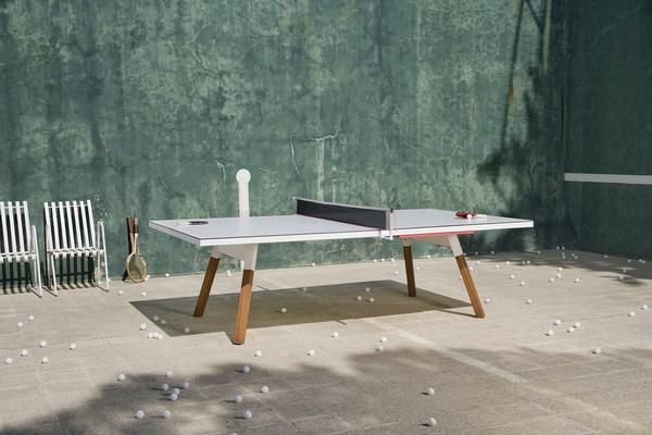 You and Me Ping Pong Table Standard White  - This is our idea of a ping pong table. Available in three convenient sizes, this ping pong table is structured for maximum playing potentiality, but converts a dinner table, makeshift desktop table, poker table, whatever you make it.