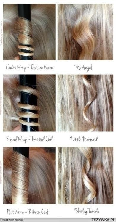 Types of Curl - popular hair tutorials photo