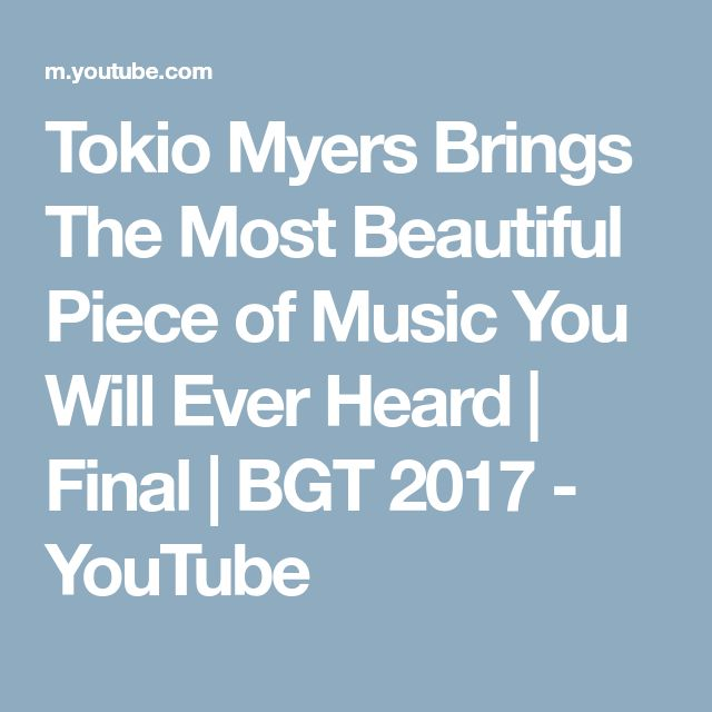 Tokio Myers Brings The Most Beautiful Piece of Music You Will Ever Heard | Final | BGT 2017 - YouTube