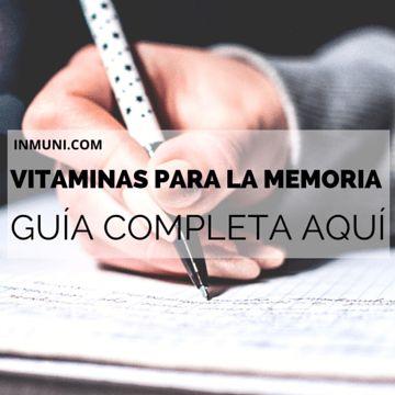 cuales vitaminas son buenas para la memoria