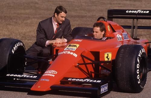 Nigel Mansell with Berger Ferrari