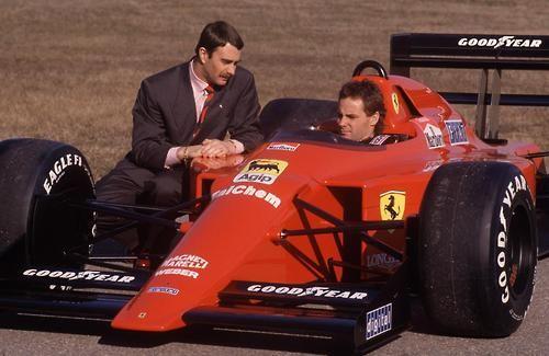 Nigel Mansell with Berger Ferrari