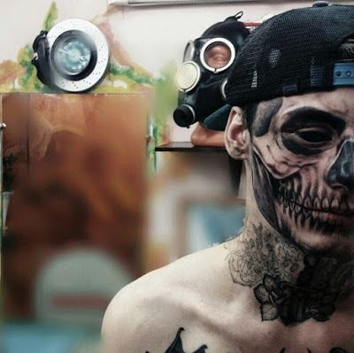 Russian Teen Has Detailed Skull Tattooed on Side of His Face... See why