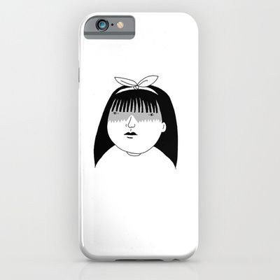 Girl. #illustration #doodle #art #drawing #pen #bnw #blackandwhite #bw #mono #society6 #s6 #portrait #girl #phone #iphone #iphone5 #iphone5s #iphone6 #iphone6plus #case