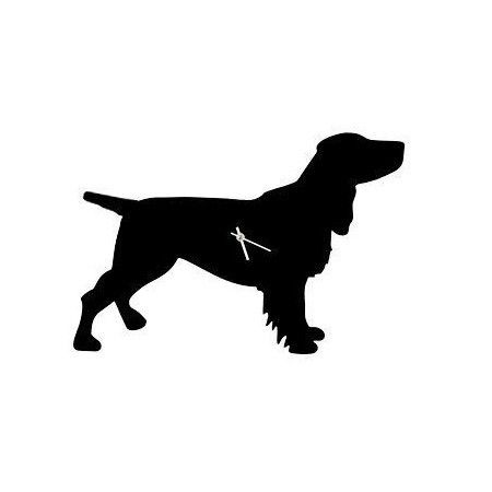 Black Spaniel Dog Clock With Wagging Tail - £42