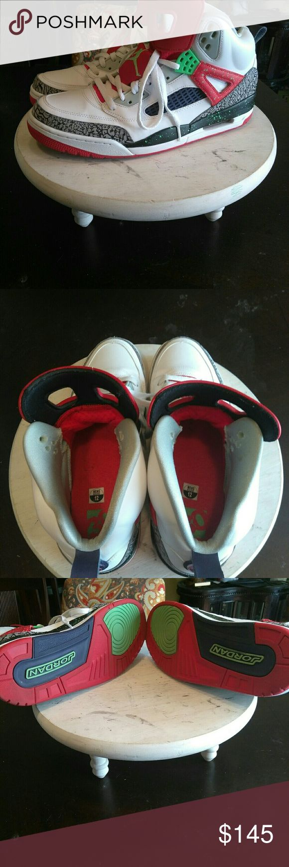 🦃Jordan-Spike Lee Edition Check out these fabulous sneakers!!! Super rare and hard to find!!! Worn a total of 3 times so in like-new condition inside and out!!! Jordan Shoes Sneakers
