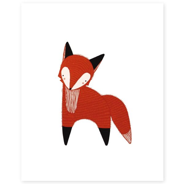 The+Redhead+Fox+Illustration+–+babasouk.ca+:+The+perfect+illustration+to+add+an+artsy+touch+to+your+little+munchkin's+room!+He/She+will+probably+want+to+give+it+a+real+name+and+you+will+have...