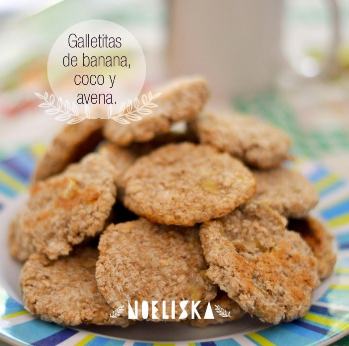 recetas veganas galletitas de banana avena y coco taza de bananas