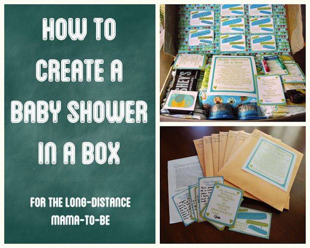 How to Create a Baby Shower in a Box.  Such a great idea!  Love the diaper diaries.