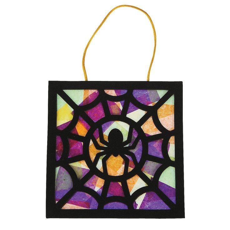 Tissue+Paper+Black+Spider+Craft+Kit+-+OrientalTrading.com