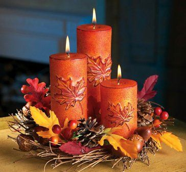 harvest candle centerpiece