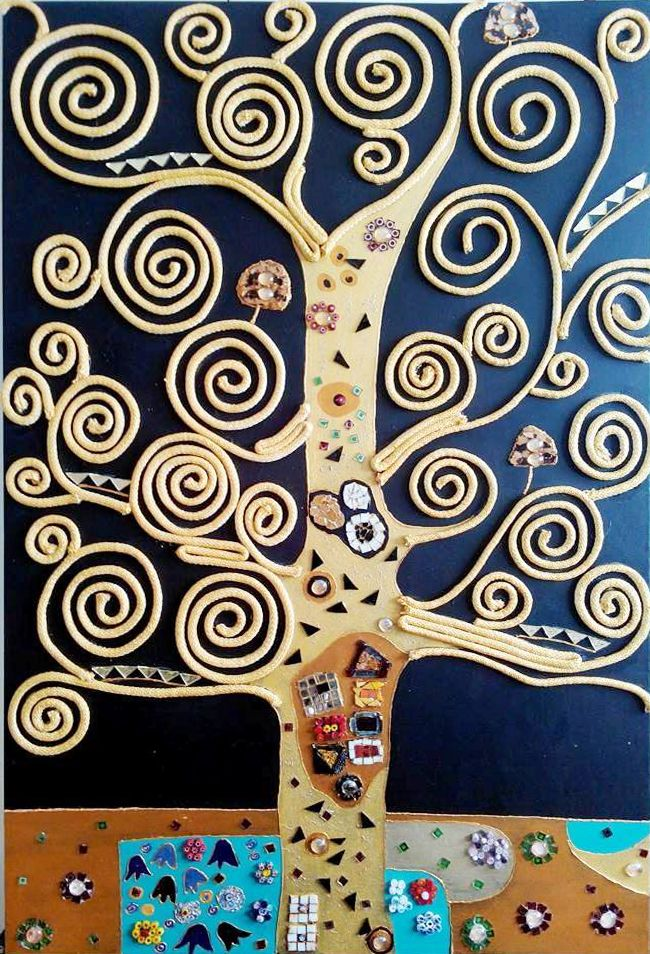 Interpretazione dell'albero della vita di Gustav Klimt. Interpretation of the Tree of Life of Gustav Klimt