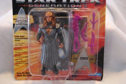 Betor Klingon Warrior & Daughter of the House of Duras - Star Trek VII Generations von Playmates by @ niftywarehouse.com #NiftyWarehouse #StarTrek #Trekkie #Geek #Nerd #Products