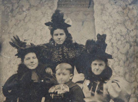 Creepy tintypes as Halloween Decor!  Witchy Looking Ladies Tintype