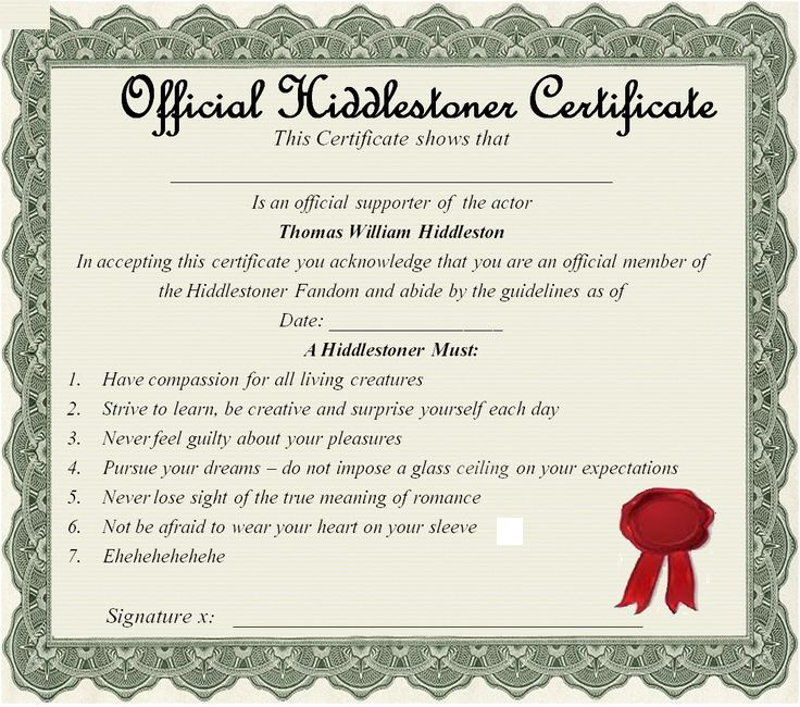 TiaH) #Hiddlestoner Certificate 20 (minus the spelling mistake - blank share certificates