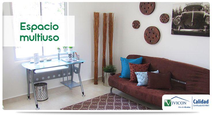 En Solem Condominio uno de sus modelos de vivienda le ofrece un espacio multiuso que puede funcionar como: dormitorio adicional, estudio, sala de tv u oficina.