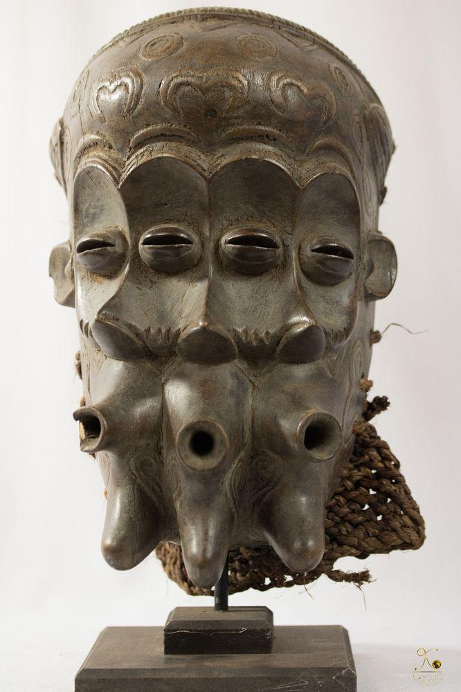 Luluwa (Lulua) 3 Face African Mask - Congo DRC - Collectors Piece