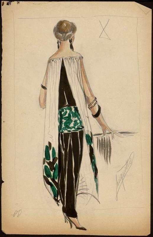* Croquis Muguette Buhler pour Paul Poiret 1922