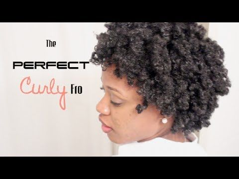 The PERFECT CURLY 'Fro on 4C Hair