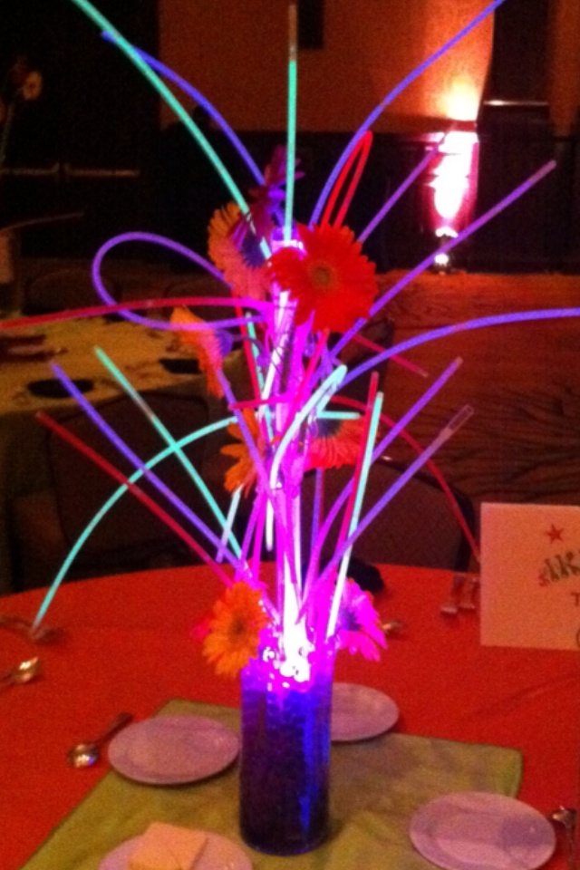 Centerpiece Up Lights : Light up centerpiece party iceberg pinterest