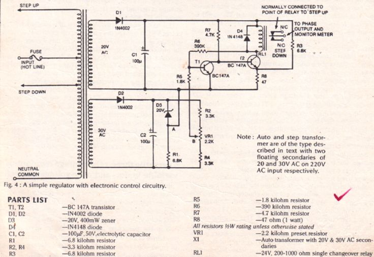 Simple Mains 220v Voltage Stabilizer Circuit