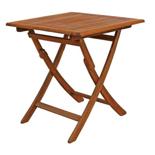 Tavolo da giardino in legno di balau, nuovo Alberta 70 x 70